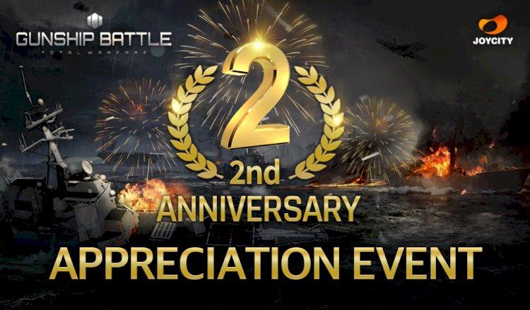 Gunship Battle Total Warfare hiện đang kỷ niệm 2 năm thành lập với một loạt các sự kiện và phần thưởng trong trò chơi